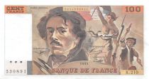 France 100 Francs Delacroix - 1993 Serial K.210 - XF