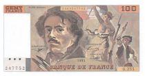 France 100 Francs Delacroix - 1993 Serial O.255 - AU