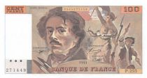 France 100 Francs Delacroix - 1993 Serial P.255 - XF+