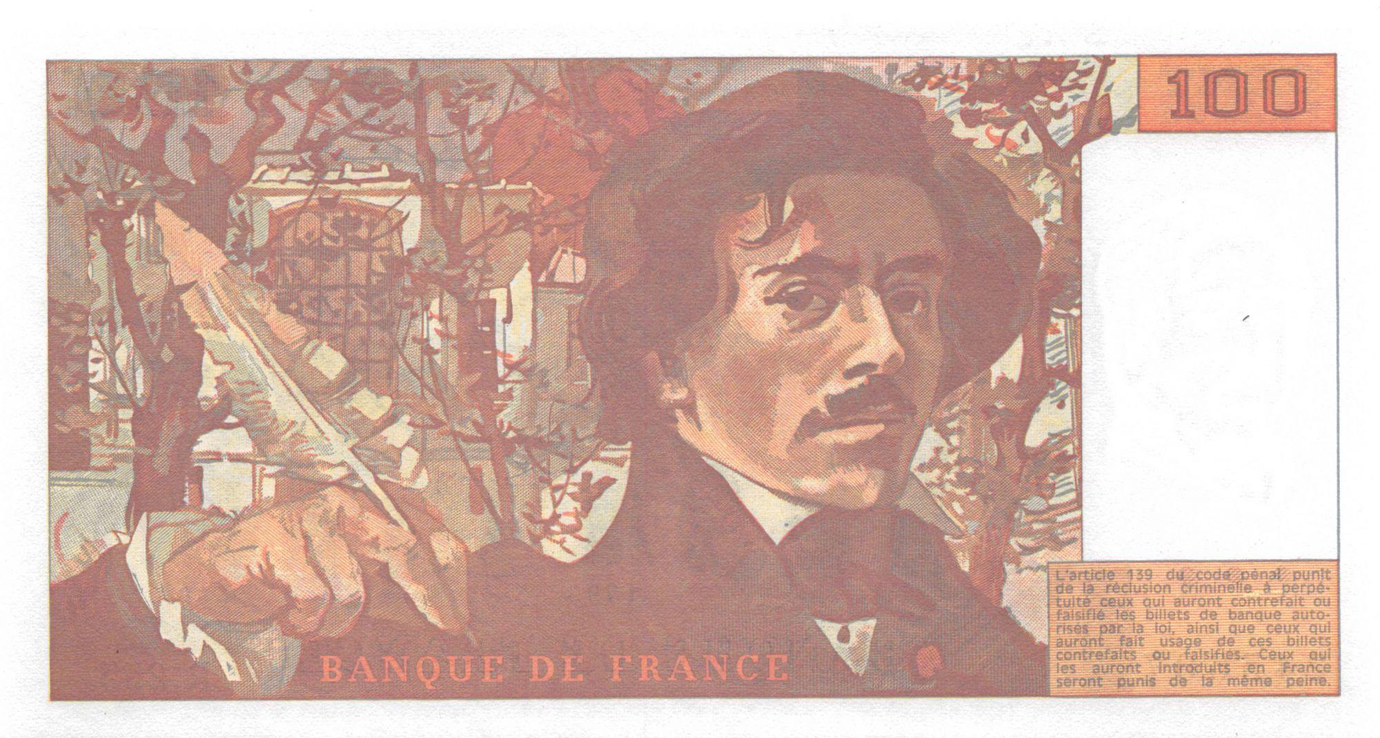 France 100 Francs Delacroix - 1993 Série R.255 - NEUF