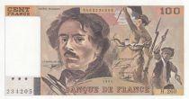 France 100 Francs Delacroix - 1994 Serial H.260