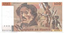 France 100 Francs Delacroix - 1994 Serial Q.279 - XF