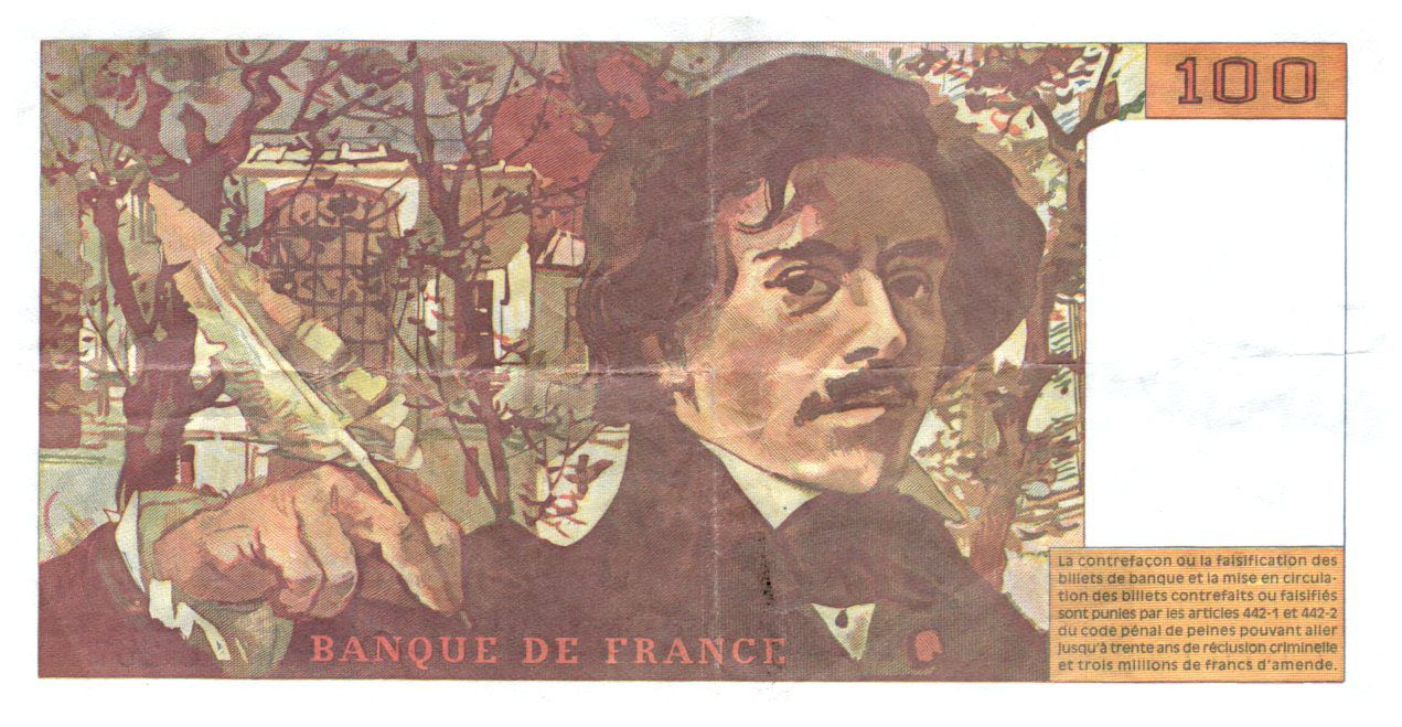 France 100 Francs Delacroix - 1994 VF