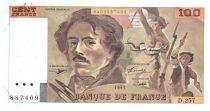 France 100 Francs Delacroix - 1995 TTB Hachuré