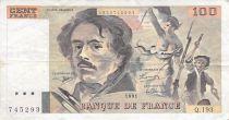 France 100 Francs Delacroix - années 1978 à 1995 - TB+