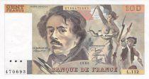 France 100 Francs Delacroix - années 1978 à 1995 - TTB+