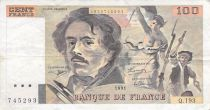 France 100 Francs Delacroix - Year 1978 to 1995 - F+