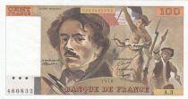 France 100 Francs Delacroix 1978 - Serial A.3