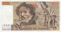 France 100 Francs Delacroix 1978 - Serial H.2