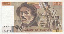 France 100 Francs Delacroix 1978 - Serial J.3