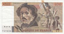 France 100 Francs Delacroix 1978 - Serial K.2