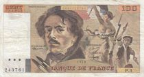 France 100 Francs Delacroix 1978 - Serial P.3