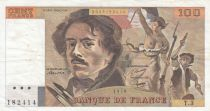 France 100 Francs Delacroix 1978 - Serial T.3