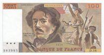 France 100 Francs Delacroix 1979 - Serial D.16