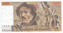 France 100 Francs Delacroix 1980 - Serial D.42