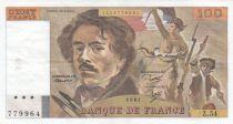France 100 Francs Delacroix 1981 - Serial Z.54