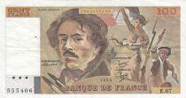 France 100 Francs Delacroix 1983 - Serial E.67