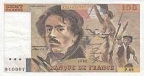 France 100 Francs Delacroix 1983 - Serial P.69