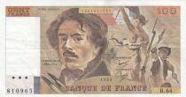 France 100 Francs Delacroix 1983 - Serial R.64