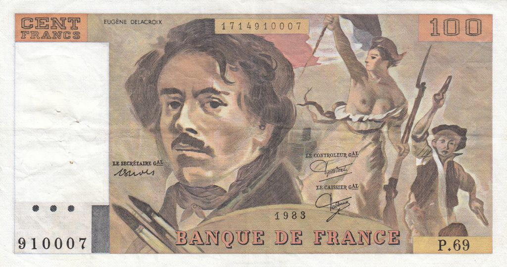 France 100 Francs Delacroix 1983 - Série P.69