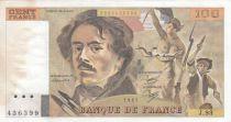 France 100 Francs Delacroix 1985 - Série J.93