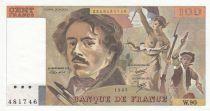 France 100 Francs Delacroix 1985 - Série W.90