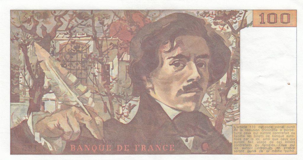 France 100 Francs Delacroix 1987 - Serial Z.125