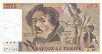 France 100 Francs Delacroix 1987 - Série Z.125