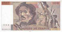 France 100 Francs Delacroix 1990 - Serial F.151