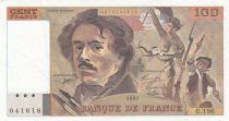 France 100 Francs Delacroix 1991 - Serial E.196