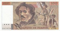 France 100 Francs Delacroix 1991 - Serial E.196