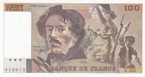 France 100 Francs Delacroix 1994 - Serial N.261