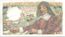 France 100 Francs Descartes - 06-01-1944 Série B.81