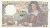 France 100 Francs Descartes - 12-10-1944 Série K.117 - SUP