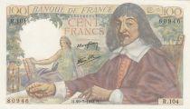 France 100 Francs Descartes - 120-07-1944 Série R.104