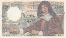 France 100 Francs Descartes - 15-05-1942 Serial F.5 - VF - P.101