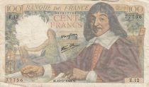 France 100 Francs Descartes - 15-05-1942 Série E.12 - TB+