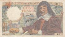 France 100 Francs Descartes - 15-05-1942 Série E.9 - TB+