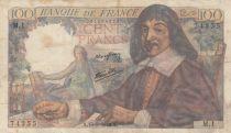 France 100 Francs Descartes - 15-05-1942 Série M.1 - TB+