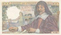France 100 Francs Descartes - 15-05-1942 Série V.12 - TTB+