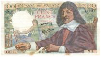 France 100 Francs Descartes - 15-05-1942 Série V.9 - TTB