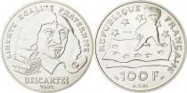 France 100 Francs Descartes- 1991 - Essai - Argent