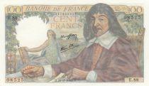 France 100 Francs Descartes - 23-03-1944 Serial E.88