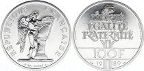 France 100 Francs Droits de l\'Homme - Piefort 1989 Argent - SPL sans boite ni certificat