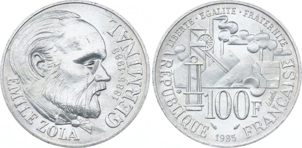 France 100 Francs Emile Zola - Germinal 1985
