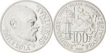 France 100 Francs Emile Zola - Germinal 1985 Silver - Essai