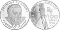 France 100 Francs Fellini - 100 years of Cinema - 1995 Proof