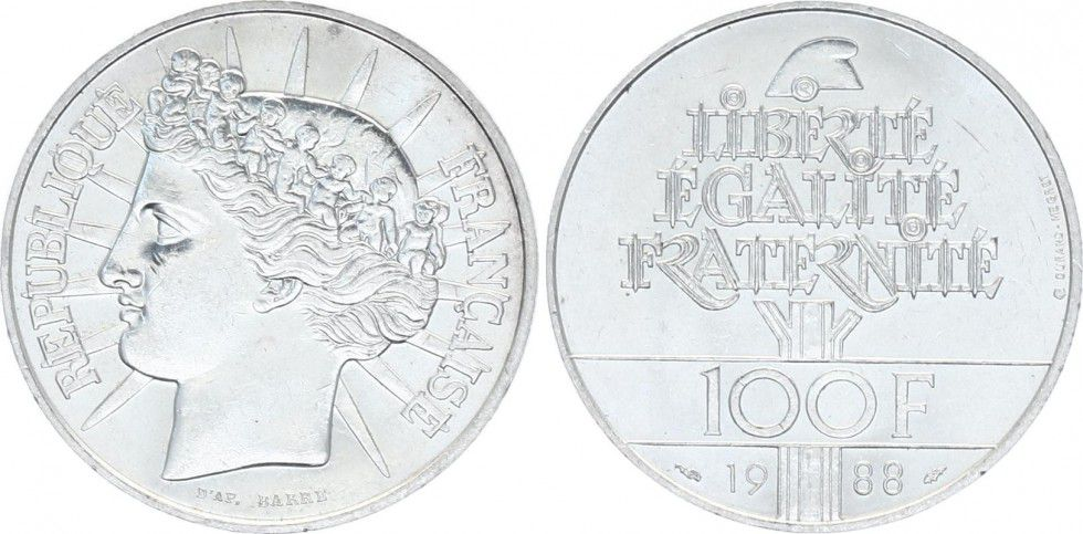 France 100 Francs Fraternité - 1988