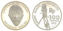 France 100 Francs Georges Mélies - 100 years of Cinema - 1995 Proof