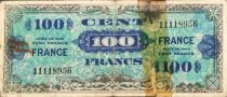 France 100 Francs Impr. américaine (drapeau) - 1944 - Sans série - B